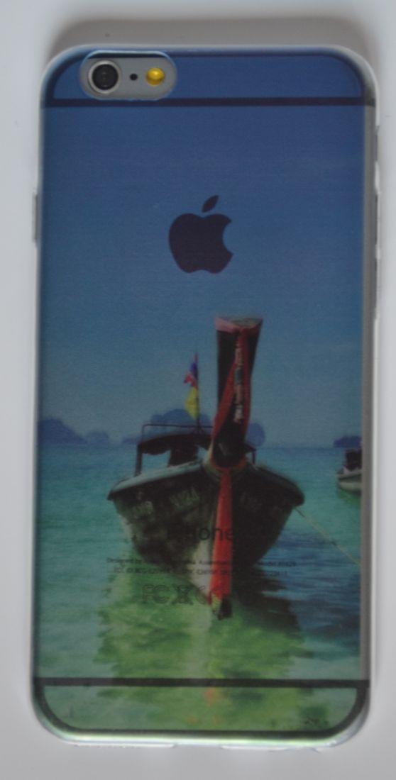 Силиконовый чехол iPhone 5/5s  лодка