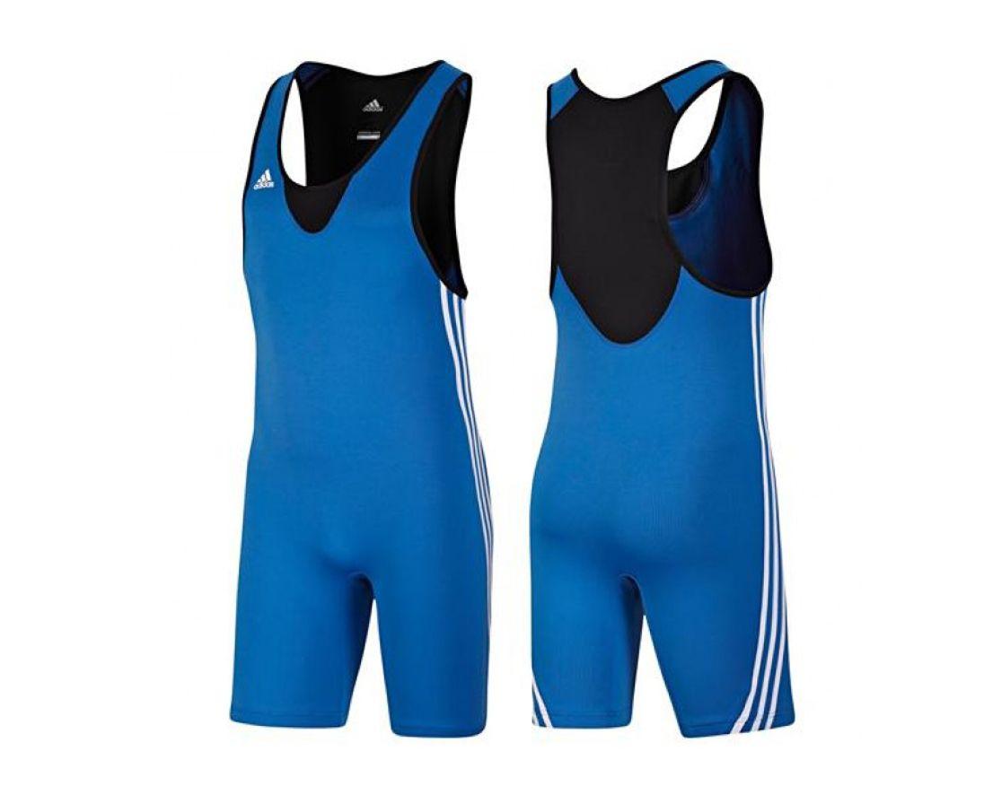 Трико борцовское Adidas Base Wrestler синее, размер S, артикул V13838