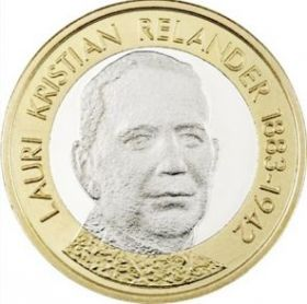 Лаури Кристиан Реландер - второй президент Финляндии 5 евро Финляндия 2016