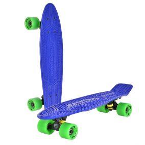 """Скейтборд """"Lamborghini"""" цвет: синий, зеленые колеса"""