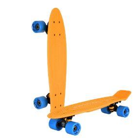 """Скейтборд """"Lamborghini"""" цвет: оранжевый, синие колеса"""