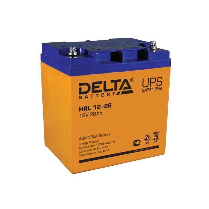 Аккумулятор свинцово-кислотный АКБ DELTA (Дельта) HRL 12-26 12 Вольт 28Ач