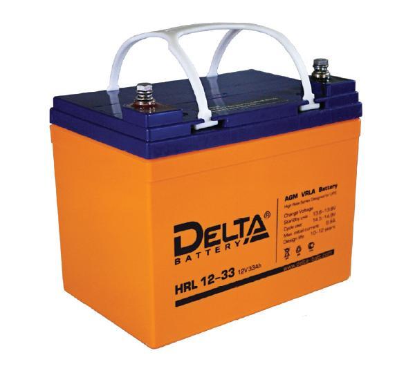 Аккумулятор свинцово-кислотный АКБ DELTA (Дельта) HRL 12-33 12 Вольт 33Ач