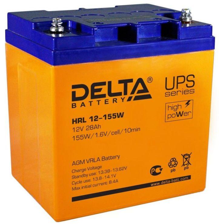Аккумулятор свинцово-кислотный АКБ DELTA (Дельта) HRL 12-155W 12 Вольт 28Ач