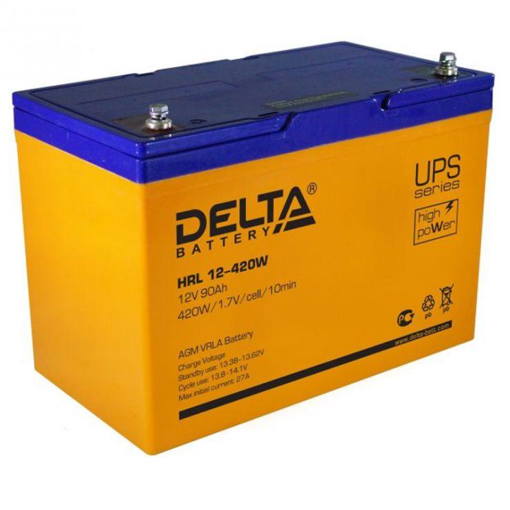 Аккумулятор свинцово-кислотный АКБ DELTA (Дельта) HRL 12-420W 12 Вольт 90Ач