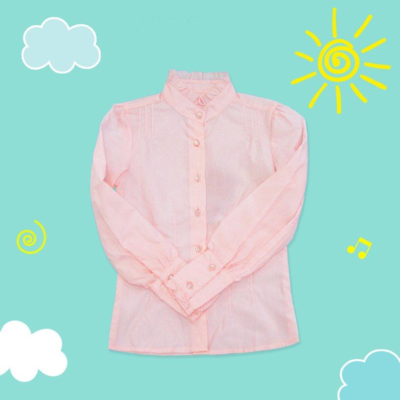 Блузка с воротником-стоечкой