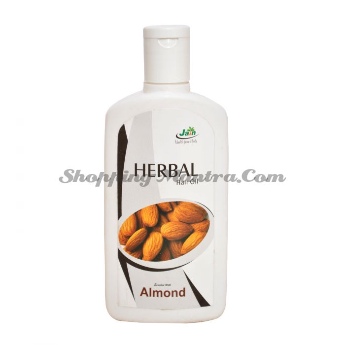 Обогащенное миндальное масло для волос Джайн Аюрведик / Jain Ayurvedic Herbal Hair Oil Almond