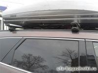 Багажник на крышу Hyundai Santa Fe 2012-..., крыловидные дуги на интегрированные рейлинги, Атлант