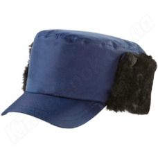 Кепи утепленная темно-синяя
