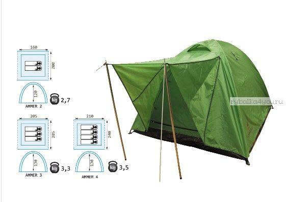 Купить Палатка Reisen Ammer 3 (woodland)
