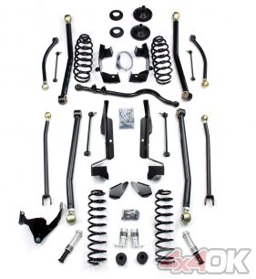 "JK 2 Door 3"" Elite LCG Long FlexArm Lift Kit w/ SpeedBumps"
