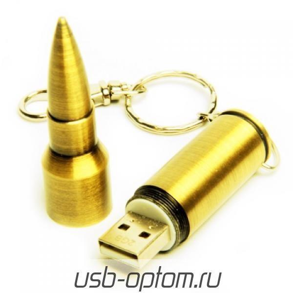 32GB USB-флэш накопитель Apexto UM-505A Пуля caliber 7.62, золотая