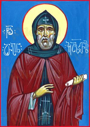 Икона Арсений Икалтойский (рукописная)