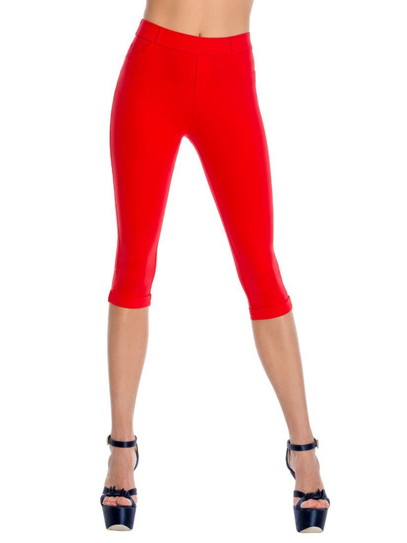 Леггинсы женские цвет красный