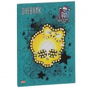 "Дневник школьный Hatber ""Monster High"", цвет: зеленый, желтый. 40ДТ5B_12204"
