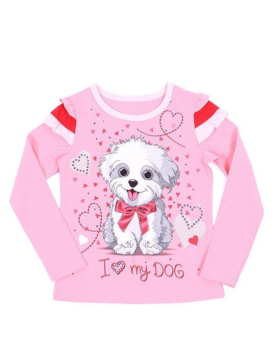 Блуза для девочки 8 лет Я люблю мою собаку