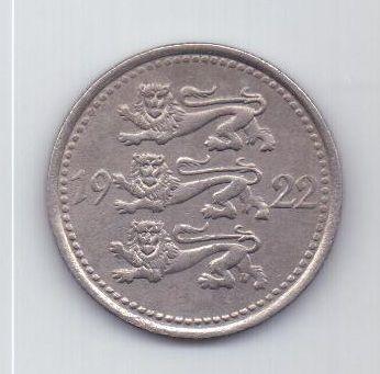 5 марок 1922 г. AUNC. Эстония