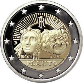 2200 лет co дня смерти Тита Макция Плавта  2 евро Италия 2016