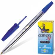 """Ручка шариковая синяя """"Corvina 51. TRASP"""" корпус прозрачный (арт. 40163/02) (12679)"""