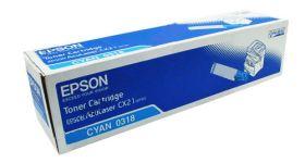 C13S050318  Тонер-картридж  оригинальный  EPSON голубой для AcuLaser CX21