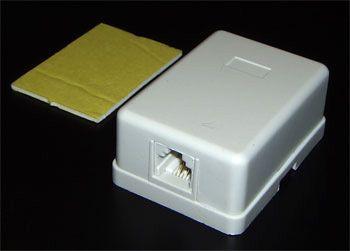 Телефонная розетка евро 1 гнездо 6p4cT-7020-6p4c