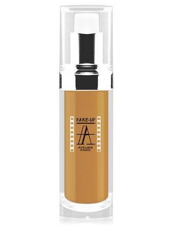 Make-Up Atelier Paris Fluid Foundation Ocher  FLW5O Clear Metiss Тон-флюид водостойкий 5О смешанная кожа (смуглый метис)