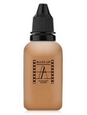 Make-Up Atelier Paris HD Fluid Foundation Beige AIR5NB Natural beige honey Тон-флюид водостойкий для аэрографа 5NB нейтральный бежевый загар