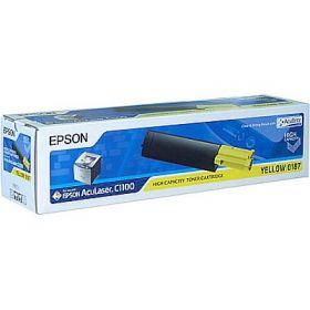C13S050187   Тонер-картридж оригинальный  EPSON желтый для AcuLaser C1100