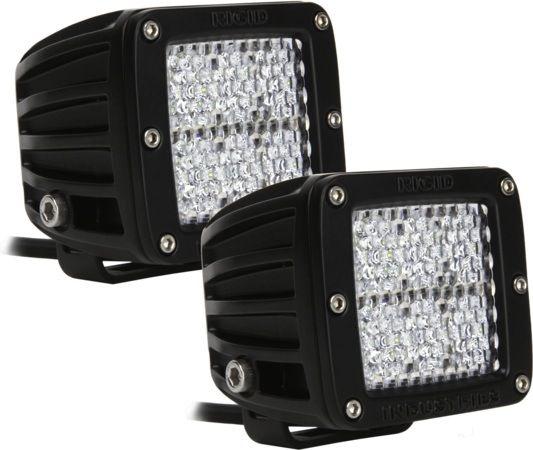 Квадратная светодиодная фара Rigid Industries Dually (4 светодиода) Рабочий свет, комплект 2 шт.
