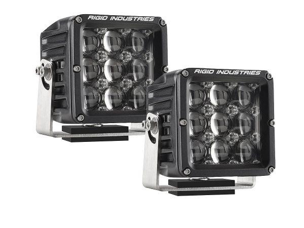 Квадратная светодиодная фара Rigid Industries Dually D2 XL (9 светодиодов) Сверхдальний свет, комплект 2 шт.