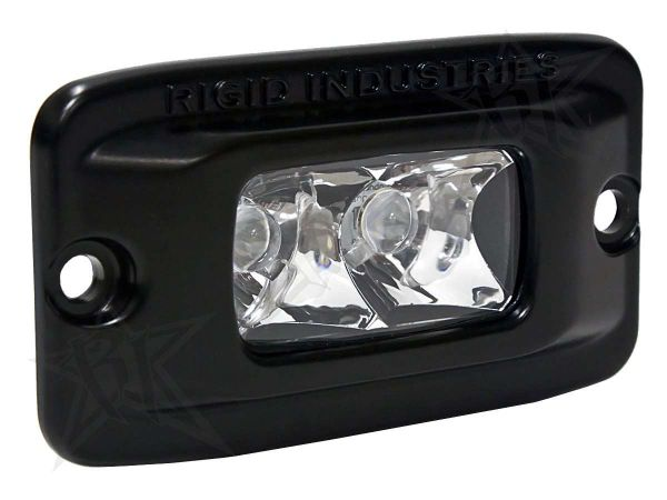 Врезная однорядная светодиодная фара Rigid Industries SRMF (2 диода) - Врезная установка - Дальний свет