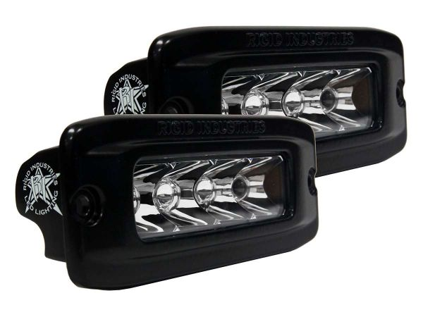 Врезная однорядная светодиодная фара Rigid Industries SRQ (4 диода) - Врезная установка - Дальний свет  комплект 2 шт.