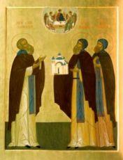 Афанасий и Феодосий Череповецкие (рукописная икона)