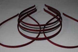 Ободок металл обтянутый тканью 5 мм, цвет: бордовый (1уп = 12шт)