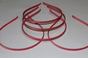Ободок металл обтянутый тканью 5 мм, цвет: арбузный (1уп = 12шт)
