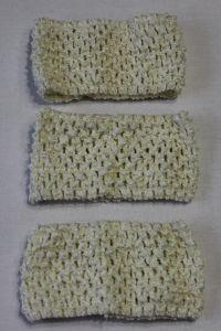 Повязка ажурная, 70 мм, цвет №02 кремовый (1 уп = 12 шт), Арт. ПВ0035
