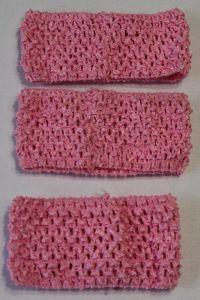 Повязка ажурная, 70 мм, цвет №08 светло-розовый (1 уп = 12 шт), Арт. ПВ0037