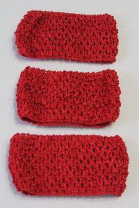 Повязка ажурная, 70 мм, цвет №14 красный (1 уп = 12 шт), Арт. ПВ0040