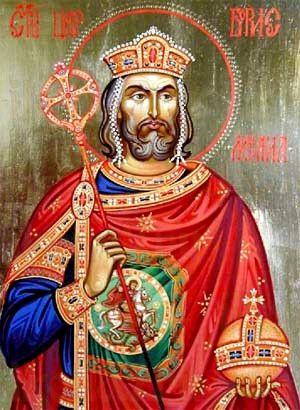 Борис Болгарский (рукописная икона)