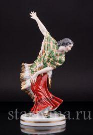Танцовщица с зеленой шалью, Dressel, Kister & Cie, Германия, нач.20 в.