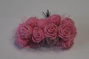 `Цветы из фоамирана с органзой, 25 мм, 11-12 цветков, цвет: светло-розовый