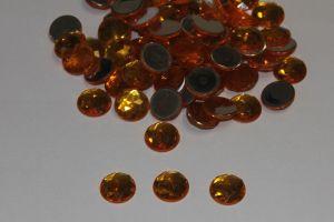 `Стразы круглые, граненные, 12 мм, цвет № 11 оранжевый (1 уп = 10 шт)