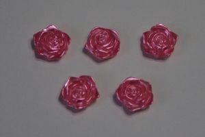 "`Кабошон ""Розочка"", диаметр 18 мм, цвет ярко-розовый"
