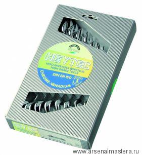 Набор двусторонних рожковых ключей 8 шт 6х7, 8х9, 10х11, 12х13, 14х15, 16х17, 18х19, 20х22 мм, в картонной коробке HEYCO 50800844080