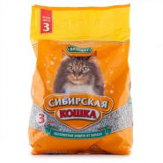 """Сибирская кошка """"Бюджет"""" Впитывающий наполнитель (3 л)"""