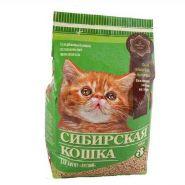"""Сибирская кошка """"Лесной для котят"""" Впитывающий древесный наполнитель (3 л)"""