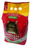 """Сибирская кошка """"Экстра"""" Впитывающий наполнитель для длинношерстных кошек (3 л)"""