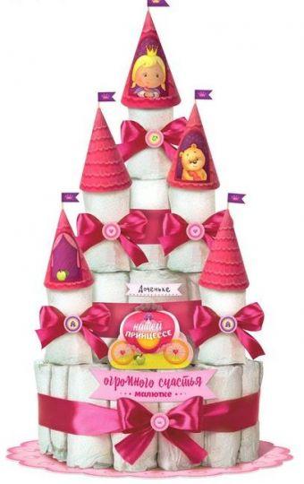 """Набор для создания торта из подгузников """"Принцесса"""""""