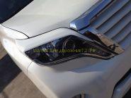 Реснички на переднею оптику для Toyota Land Cruiser Prado 150 2013-