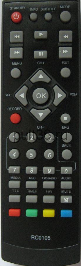 Пульт ДУ DVB-T2 BBK RC-0105 STB105